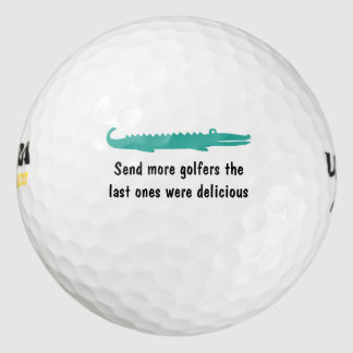 Funny Wild Gator Golf Balls
