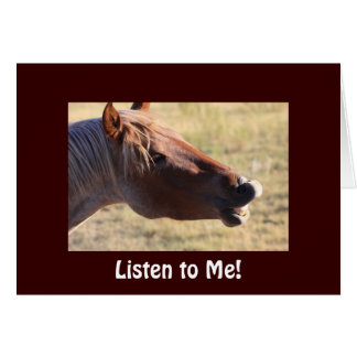 Funny Wild Horse Get Well Card