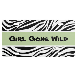 Funny Wild Thing Girly Car Tag License Plate