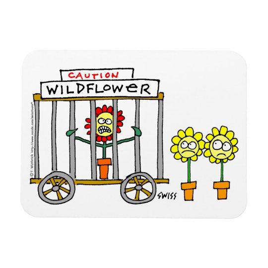 Funny Wildflower Cartoon Magnet For Gardeners