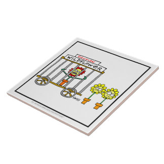 Funny Wildflowers Cartoon Kitchen Tile