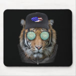 Funny wildlife dressed up Funny Bengal Tiger Mouse Pad