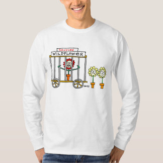 Funny Wildlower Gardener Cartoon Tee