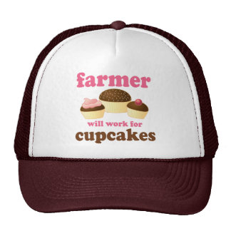 Funny Will Work for Cupcakes Farmer Trucker Hat