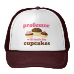 Funny Will Work for Cupcakes Professor Trucker Hat