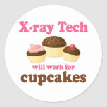Funny Will Work for Cupcakes X-ray Tech Sticker
