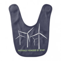 Funny Wind Turbine Baby Bib