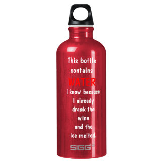 Funny (Wine) Aluminum Water Bottle