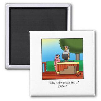 Funny Wine Cartoon Gift! Fridge Magnet