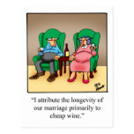Funny Wine Cartoon Gift! Post Cards