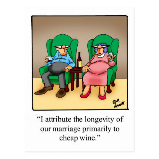 Funny Wine Cartoon Gift! Postcard