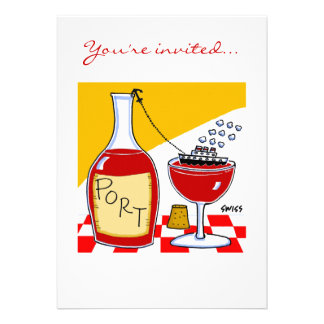 Funny Wine & Cheese Tasting Party Invitations Temp