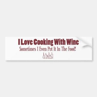 Funny Wine Design Bumper Sticker