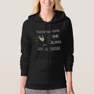 Funny Wine Drinkers Life Quote Slogan Graphic Hoodie
