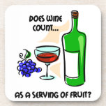 funny wine drinking beverage coasters