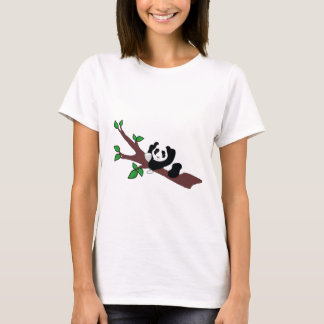 Funny Wine Drinking Panda Bear in Tree T-Shirt