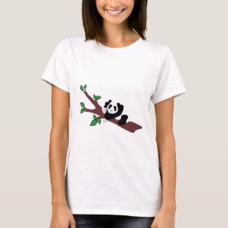 Funny Wine Drinking Panda Bear in Tree T-Shirt