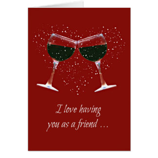 Funny Wine Happy Birthday Card for Friend