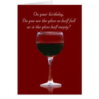 Funny Wine Happy Birthday Customizable Card
