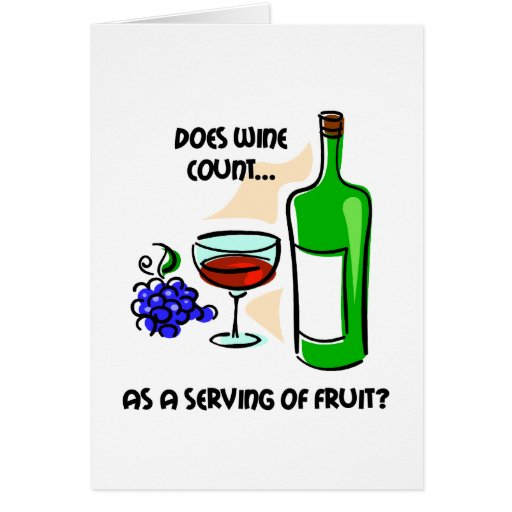 Funny wine humor saying cards