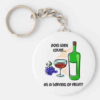 Funny wine humor saying keychain