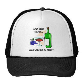 Funny wine humor saying trucker hat
