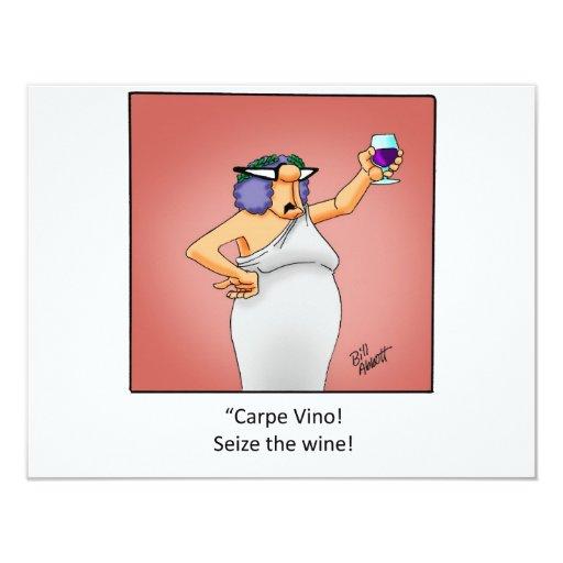 """Funny Wine Invitation! 4.25"""" X 5.5"""" Invitation Card"""