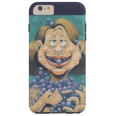 Funny Wine Lovers Phone CaseiPhone 6/6s Plus,Tough Tough iPhone 6 Plus Case