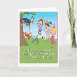 "Funny Wine Pinata birthday card<br><div class=""desc"">Here&#39;s a funny birthday card featuring a woman who has hit the wine pinata in just the right spot,  letting the good times flow! That&#39;s the way to get the party started! The perfect card for a wine lover!</div>"