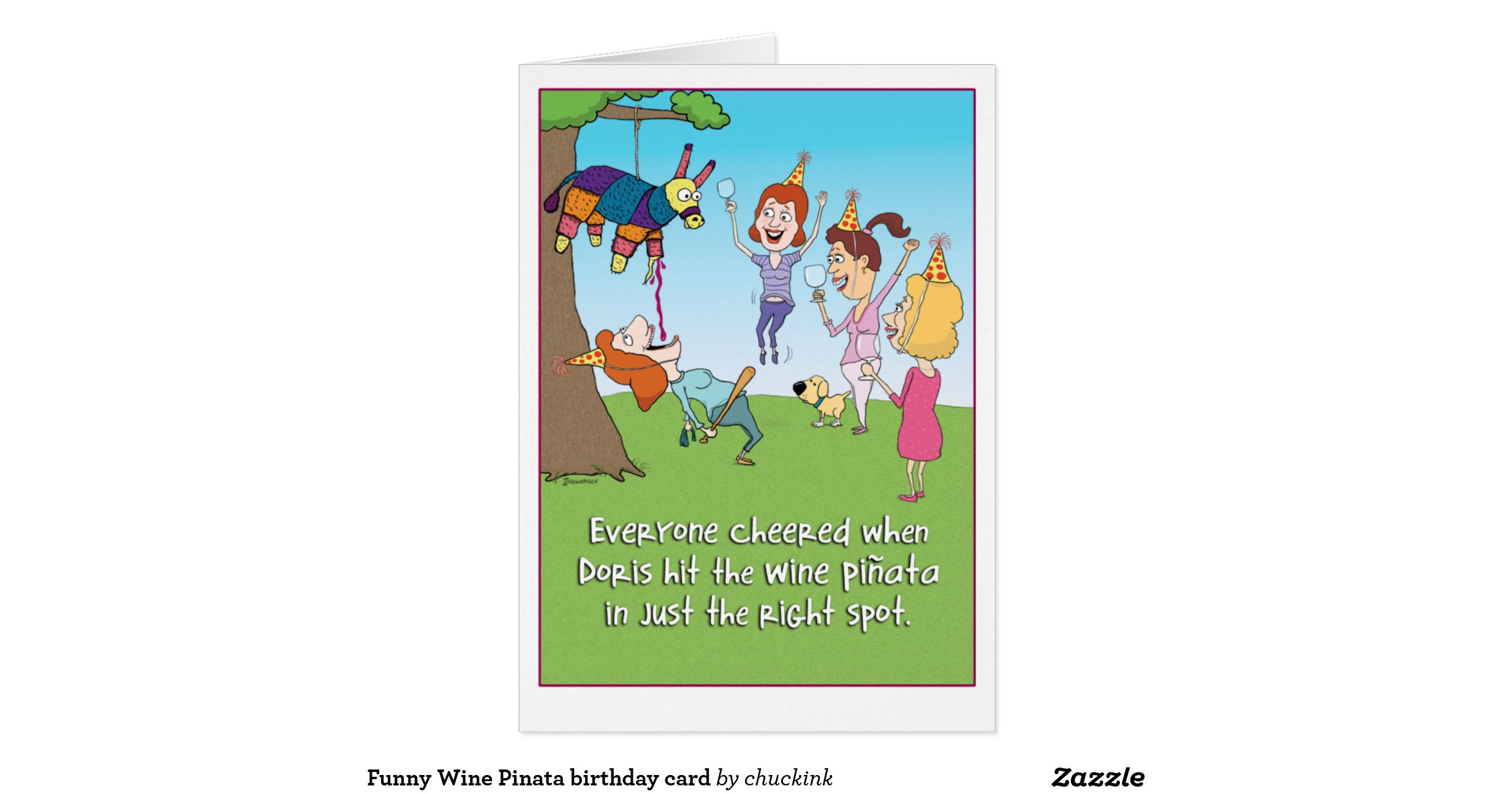 Funnywinepinatabirthdaycard