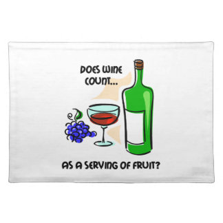 funny wine placemats