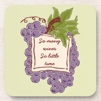 Funny Wine Quote coasters