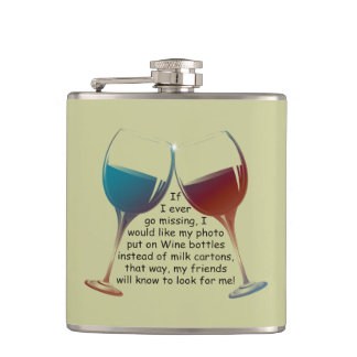 Funny Wine Saying Flask