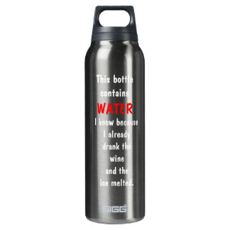 Funny (Wine) 16 Oz Insulated SIGG Thermos Water Bottle