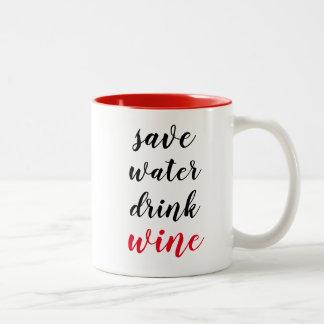 Funny Wine Theme Two-Tone Coffee Mug