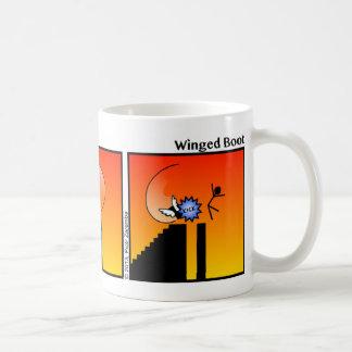 Funny Winged Boot Stickman Mug - 096