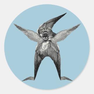funny Wingman Dada Inspired Classic Round Sticker