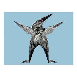 funny Wingman Dada Inspired Postcard