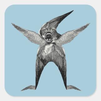 funny Wingman Dada Inspired Square Sticker