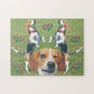 Funny Winking Beagle Rabbits & Beagles Puzzle