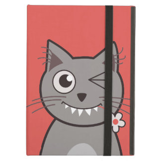 Funny Winking Cartoon Kitty Cat iPad Air Case