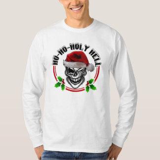 Funny Winking Christmas Santa Skull T-Shirt