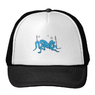 funny winking octopus trucker hat