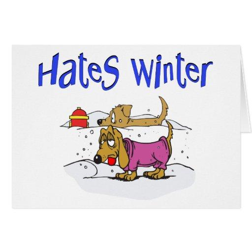 Funny Winter Christmas Card