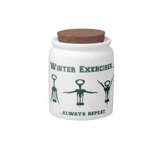 Funny Winter Exercises Candy Dish