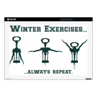 Funny Winter Exercises Decals For Laptops