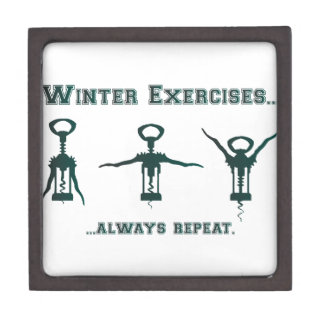 Funny Winter Exercises Gift Box