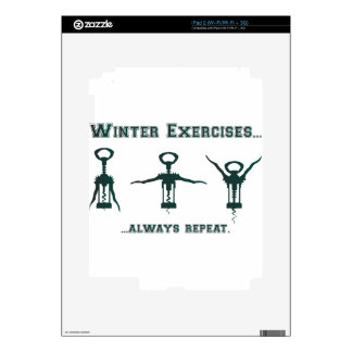 Funny Winter Exercises iPad 2 Skins