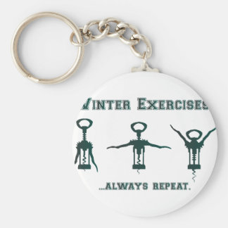 Funny Winter Exercises Keychain