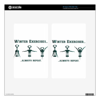 Funny Winter Exercises Kindle Fire Skin